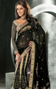 praful designer lehnga sari