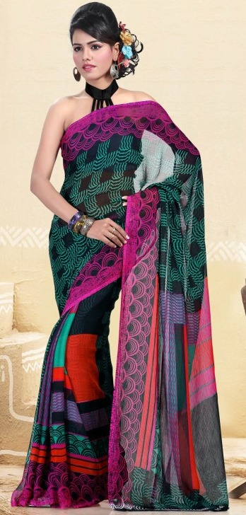 printed saree-prafful